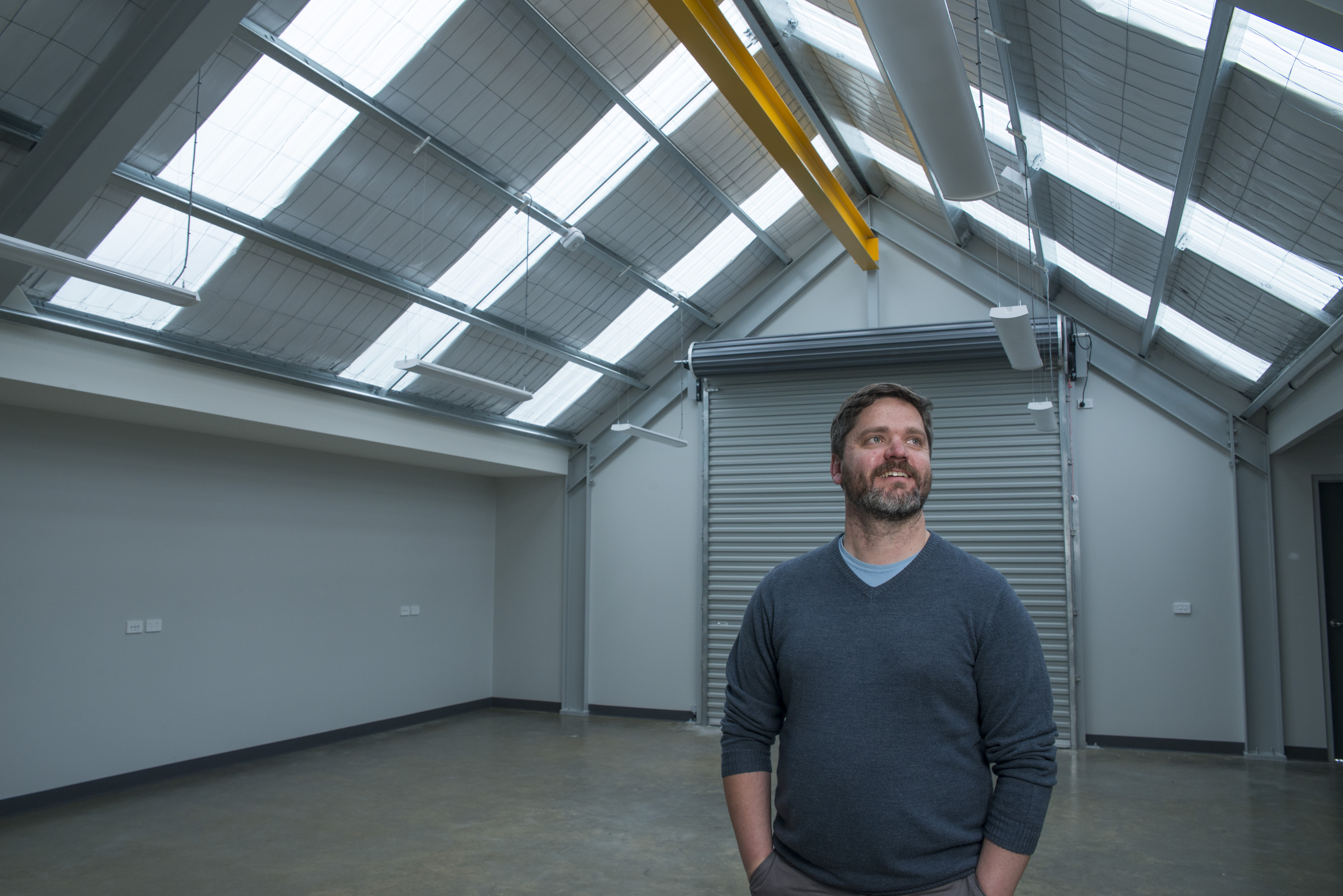 Peter King in the new AUV facility